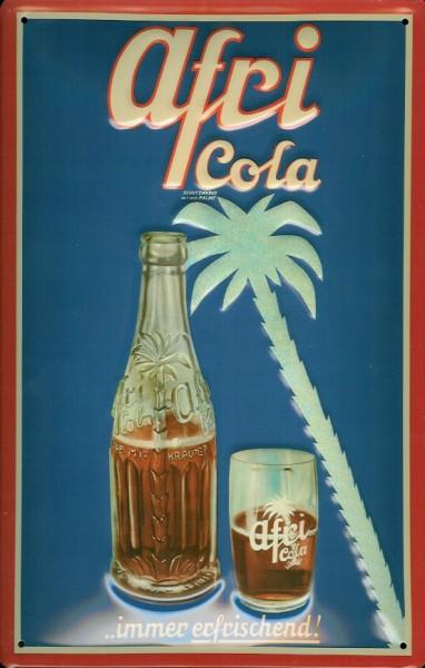 Blechschild Afri Cola immer erfrischend Palme retro Werbeschild Reklame Schild