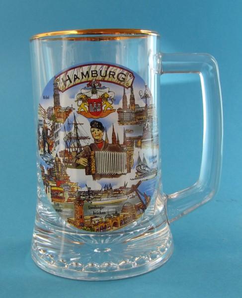 Bierseidel aus Glas Hans Albers 1/4 Liter