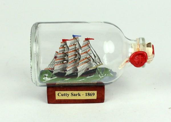 Cutty Sark Mini Buddelschiff 50 ml ca. 7,2 x 4,5 cm Flaschenschiff