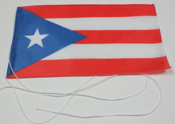 Tischflagge Puerto Rico 25x15 cm optional mit Holz- oder Chromständer Tischfahne Tischfähnchen