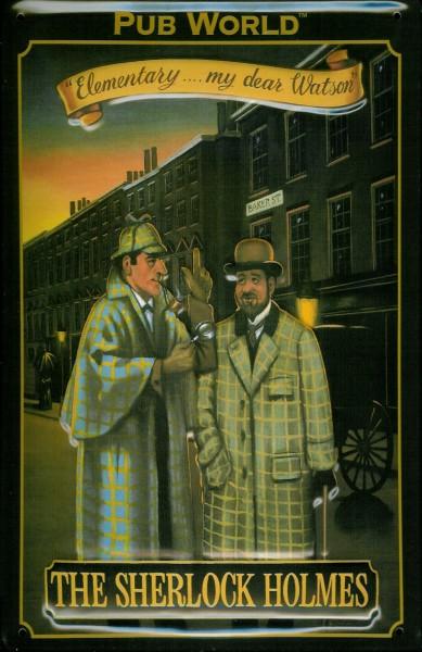 Blechschild Nostalgieschild Sherlock Holmes Pub World London