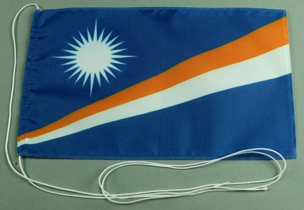 Tischflagge Marshall Inseln 25x15 cm optional mit Holz- oder Chromständer Tischfahne Tischfähnchen