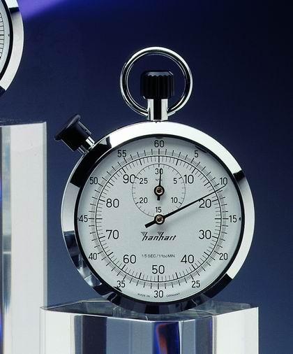 Mechanische analog Stoppuhr Hanhart 1/5 sec + 1/100 min, 30 min
