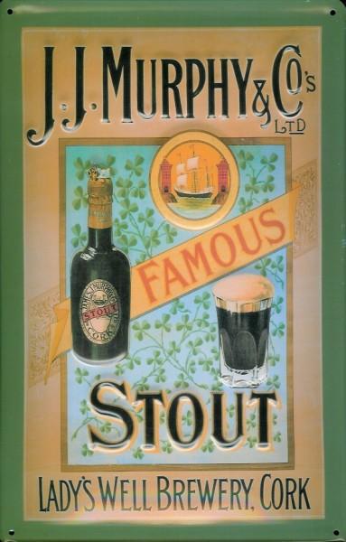 Blechschild Murphy & Co. Famous Stout Bier Schild nostalgisches Werbeschild