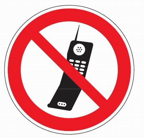 Aluminium Verbotsschild Handy benutzen verboten verschiedene Größen 0,6 mm Alu