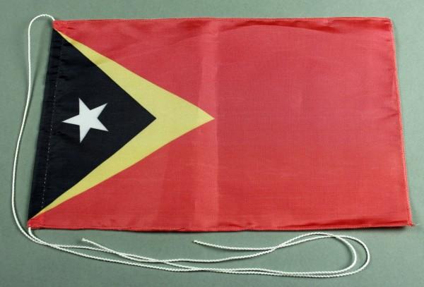 Tischflagge Ost Timor 25x15 cm optional mit Holz- oder Chromständer Tischfahne Tischfähnchen