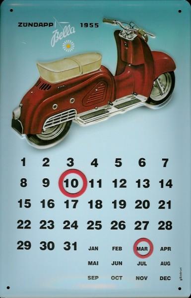 Blechschild Zündapp 1955 Magnet Kalender Dauerkalender Schild