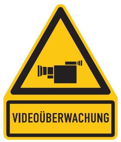 Aluminium Schild Videoüberwachung 237x200 mm geprägt