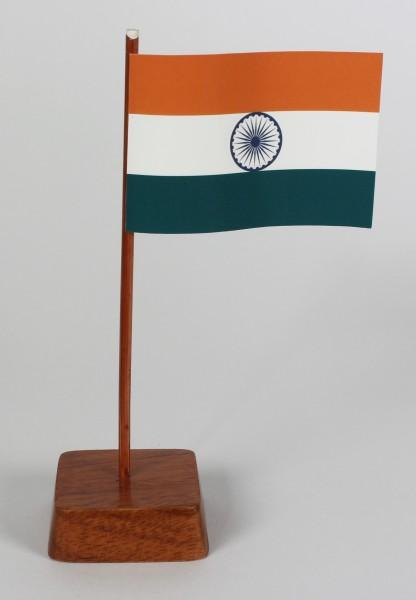 Mini Tischflagge Indien Höhe 13 cm Tischfähnchen