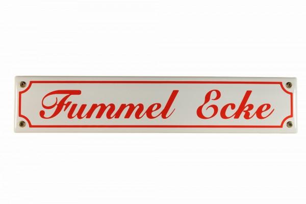 Strassenschild Fummel Ecke 40x8 cm Email Strassen Schild Emaille