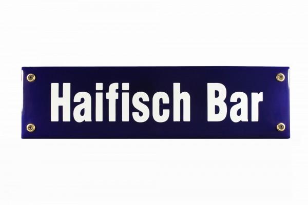 Strassenschild Haifisch Bar 30x8 cm Email Strassen Schild Emaille Kneipenschild