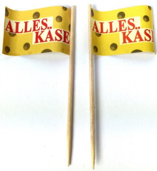 Party-Picker Flagge Alles Käse Papierfähnchen in Spitzenqualität 50 Stück Beutel