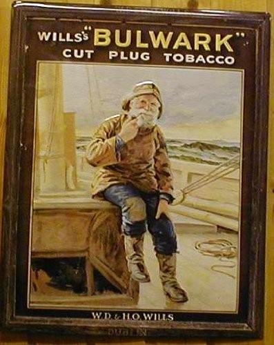Blechschild Nostalgieschild Will's Bulwark cut plug Tabak Tobacco