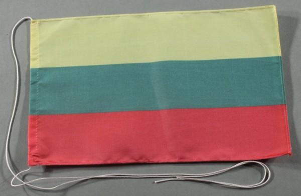 Tischflagge Litauen 25x15 cm optional mit Holz- oder Chromständer Tischfahne Tischfähnchen