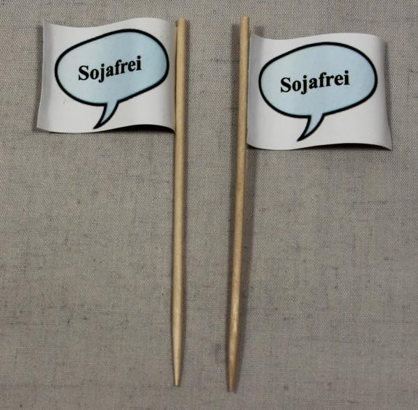Party-Picker Flagge Sojafrei Papierfähnchen in Spitzenqualität 50 Stück Beutel