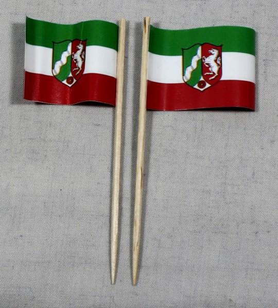 Party-Picker Flagge Nordrhein Westfalen Papierfähnchen in Spitzenqualität 50 Stück Beutel
