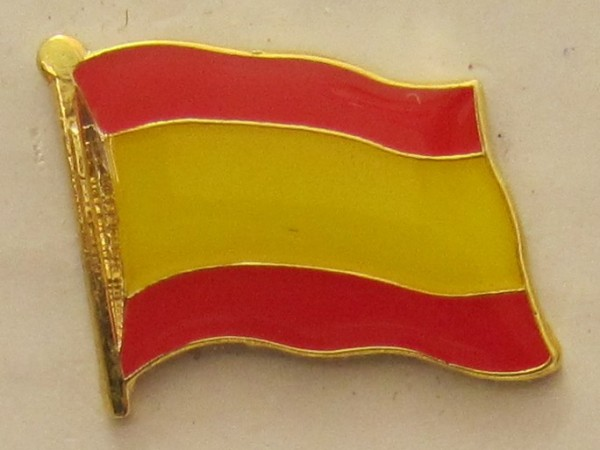 Pin Anstecker Flagge Fahne Spanien ohne Wappen