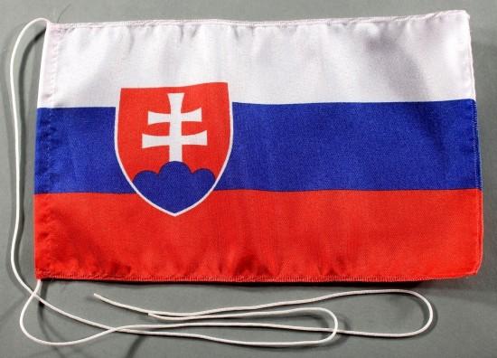 Tischflagge Slowakei 25x15 cm optional mit Holz- oder Chromständer Tischfahne Tischfähnchen