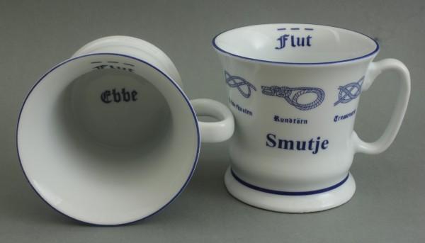 Smutje mit Seemannsknoten hoch Kaffeebecher Kaffeetasse Kaffee Pott