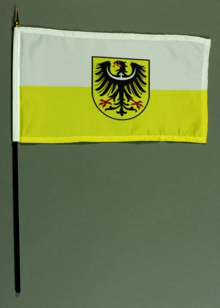Tischflagge Niederschlesien 15x25 cm BASIC optional mit Tischflaggenständer