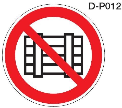 Aluminium Verbotsschild D-P012 Nichts abstellen oder lagern verschiedene Größen 0,6 mm Alu