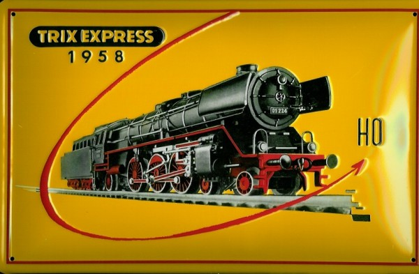 Blechschild Trix Express Modelleisenbahn Dampflok Eisenbahn Schild Nostalgieschild