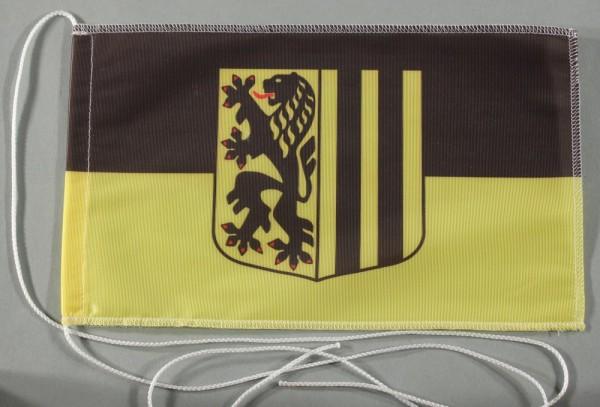 Tischflagge Dresden Stadtflagge 25x15 cm optional mit Holz- oder Chromständer Tischfahne Tischfähnch