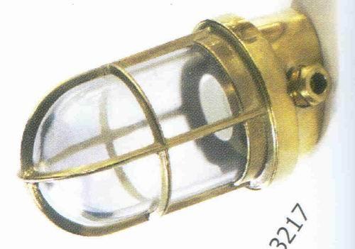 Gitterlampe Messing Wandleuchte 15 Grad Winkel 10x18 cm 220 Volt (CHROM)