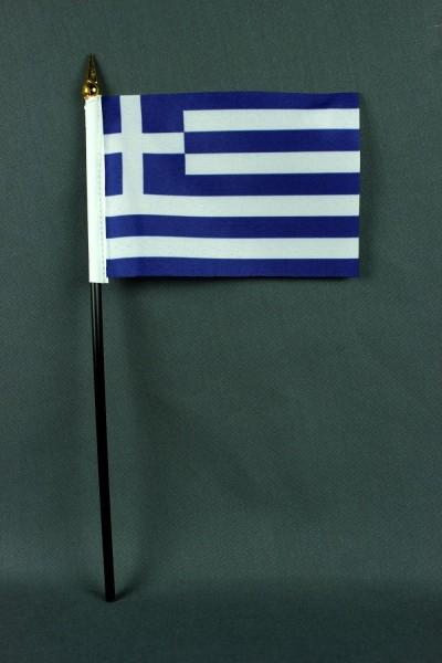 Kleine Tischflagge Griechenland 10x15 cm optional mit Tischfähnchenständer