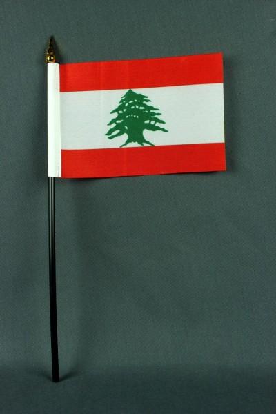 Kleine Tischflagge Libanon 10x15 cm optional mit Tischfähnchenständer