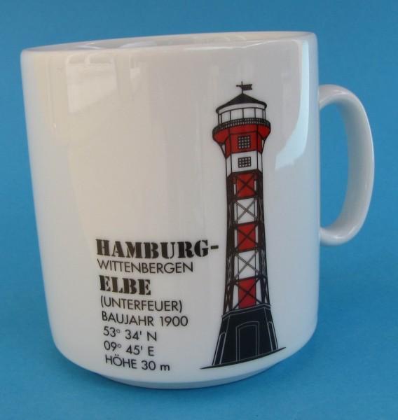 Leuchtturm Becher Wittenbergen / Elbe *