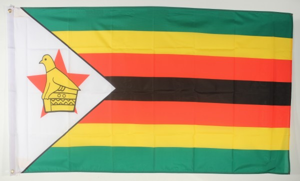 Flagge Fahne : Simbabwe Simbabweflagge Nationalflagge Nationalfahne