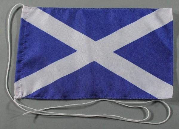 Tischflagge Schottland St. Andrews Cross 25x15 cm optional mit Holz- oder Chromständer Tischfahne Ti
