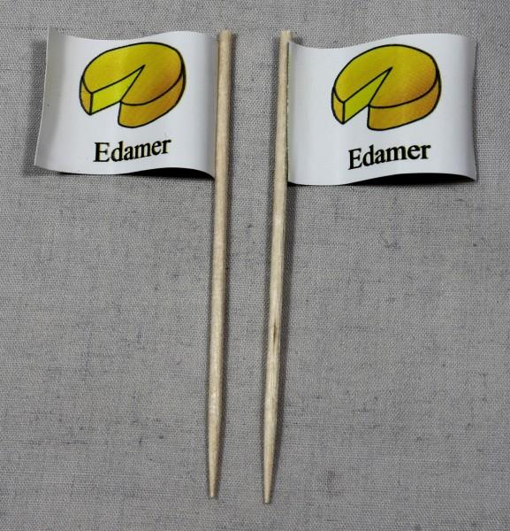 Party-Picker Flagge Edamer Käse Papierfähnchen in Spitzenqualität 50 Stück Beutel