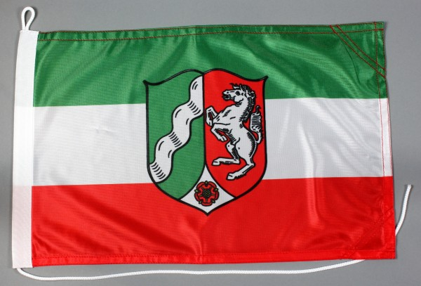 Bootsflagge Nordrhein Westfalen 30x45 cm Motorradflagge Bootsfahne