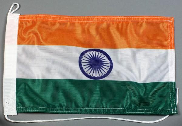 Bootsflagge : Indien 30x20 cm Motorradflagge