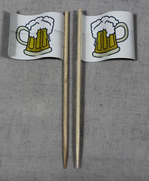 Party-Picker Flagge Bierglas Bierkrug Bier Papierfähnchen in Spitzenqualität 50 Stück Beutel