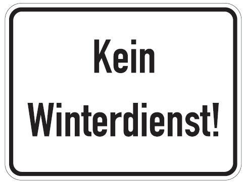 Aluminium Schild kein Winterdienst 300x400 mm geprägt