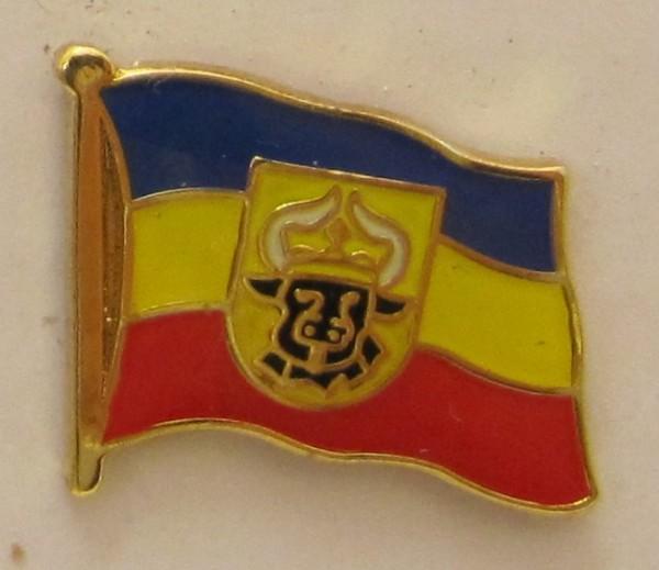 Pin Anstecker Flagge Fahne Mecklenburg Ochsenkopf