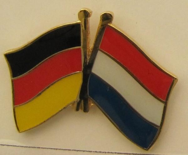 Niederlande / Deutschland Freundschafts Pin Anstecker Flagge Fahne Nationalflagge