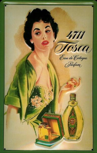 Blechschild 4711 Tosca (1) Fläschchen Eau de Cologne kölnisch Wasser Parfum Schild Werbeschild Nosta
