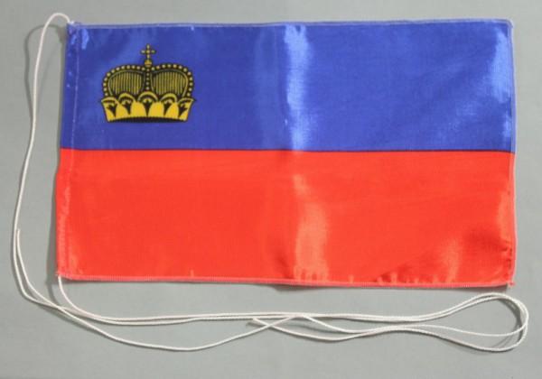 Tischflagge Liechtenstein 25x15 cm optional mit Holz- oder Chromständer Tischfahne Tischfähnchen