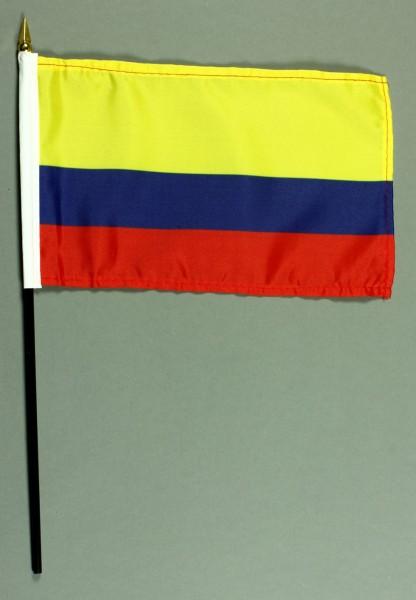 Tischflagge Kolumbien 25x15 cm BASIC optional mit Tischflaggenständer