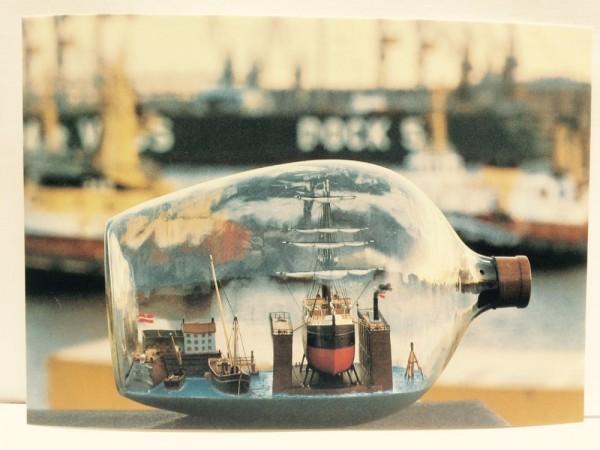 Buddelschiff - Postkarte ec10