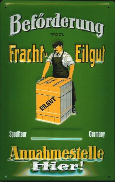 Blechschild Nostalgieschild Fracht Eilgut Spedition