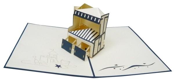3D Pop-Up Karte Strandkorb Nordsee Ostsee