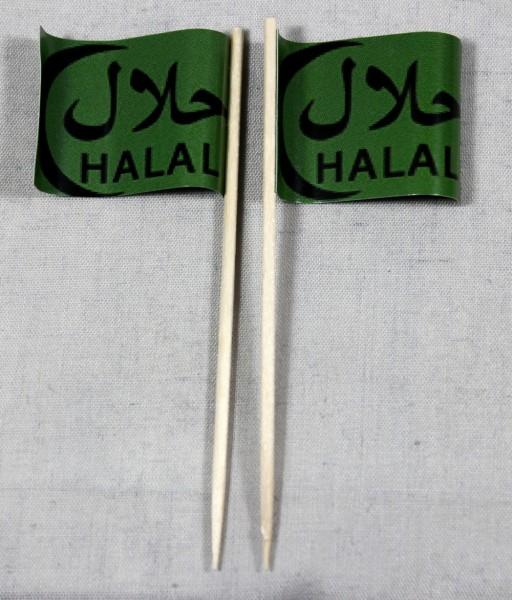 Party-Picker Flagge Halal arabisch Papierfähnchen in Spitzenqualität 50 Stück Beutel