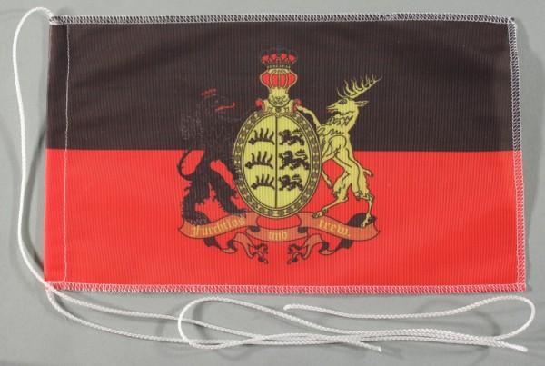 Tischflagge Württemberg furchtlos und Trew 25x15 cm optional mit Holz- oder Chromständer Tischfahne