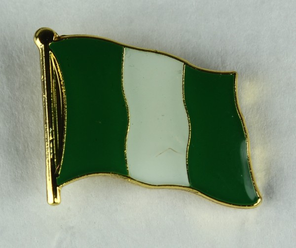 Nigeria Pin Anstecker Flagge Fahne Nationalflagge