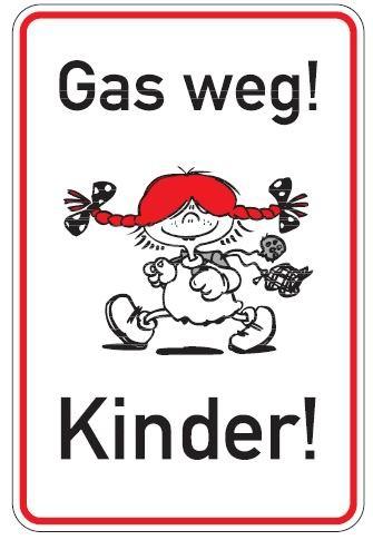 Aluminium Parkplatzschild Gas weg Kinder glatte Oberfläche 750x500 mm 2 mm Alublech